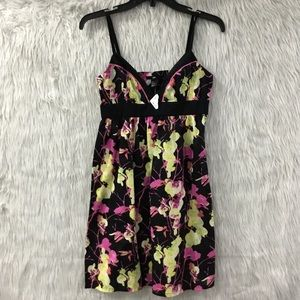 H&M black floral summer dress